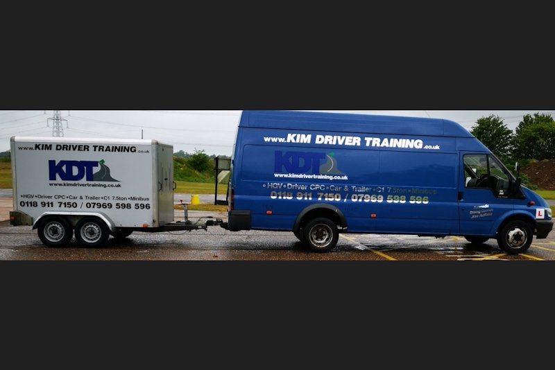 driving course for a 7.5 tonne vehicle with a trailer